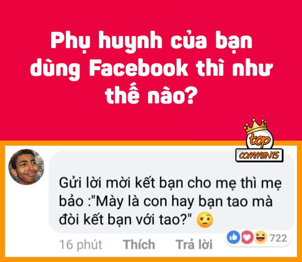 Khi phụ huynh dùng Facebook: Vừa đăng status tìm người tám, mẹ vào comment rảnh thì xuống rửa bát - Ảnh 1.