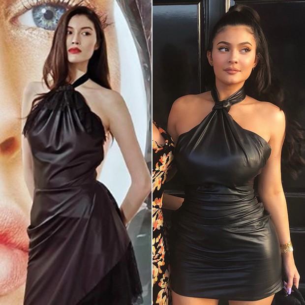 Cùng một kiểu đầm: Kylie Jenner bị mỉa là như mặc... bao rác, nhìn sang chân dài Victorias Secret lại khác hẳn - Ảnh 6.