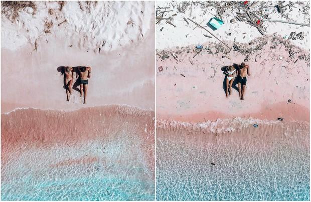 Nổi tiếng chưa được bao lâu, bãi biển Hồng tại Indonesia nay đã ngập rác đến phát hoảng - Ảnh 1.