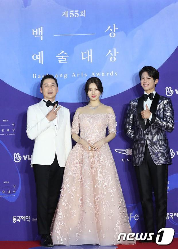 Siêu thảm đỏ khủng nhất lịch sử Baeksang: Suzy và IU xuất thần với đầm công chúa, Hyun Bin dẫn đầu 50 sao Hàn quyền lực - Ảnh 2.