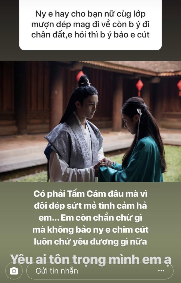 Fan lục đục tình cảm vì người yêu cứ cho bạn nữ cùng lớp mượn dép, Mai Vân Trang lấy ngay drama Tấm Cám cho lời khuyên cực gắt - Ảnh 2.