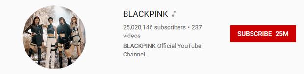 Với 25 triệu người đăng ký, BLACKPINK đang ở đâu trên bản đồ siêu sao Youtube của thế giới? - Ảnh 1.