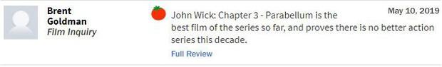 John Wick 3 đạt điểm gần tuyệt đối, tuyệt phẩm hành động là đây chứ còn đâu? - Ảnh 3.