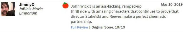 John Wick 3 đạt điểm gần tuyệt đối, tuyệt phẩm hành động là đây chứ còn đâu? - Ảnh 7.