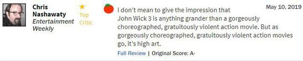 John Wick 3 đạt điểm gần tuyệt đối, tuyệt phẩm hành động là đây chứ còn đâu? - Ảnh 9.