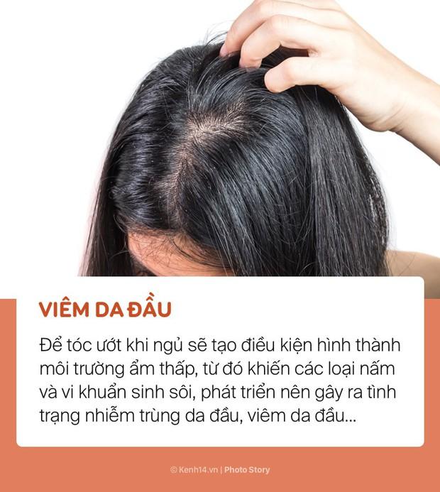 Bất chấp để tóc ướt đi ngủ, bạn sẽ có nguy cơ gặp phải những vấn đề sức khoẻ này - Ảnh 3.
