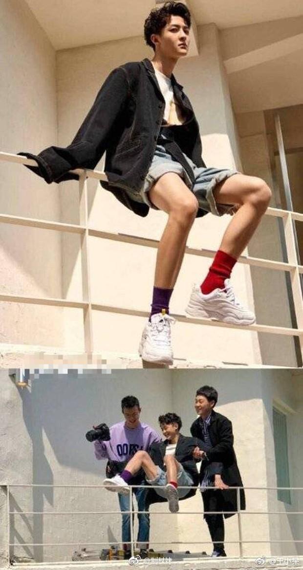 Ảnh của Lâm Canh Tân hot nhất Weibo hôm nay: Hoá ra để có 1 khoảnh khắc đẹp thì hình tượng lại thảm thế này! - Ảnh 5.