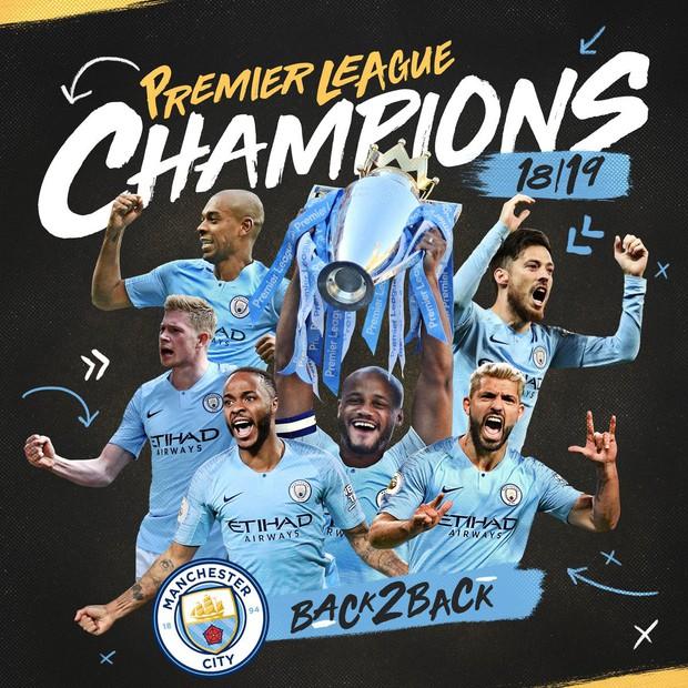 Brighton 1-4 Man City: Thắng đậm lượt trận cuối, Man City chính thức giành chức vô địch Ngoại hạng Anh 2018/2019 - Ảnh 4.
