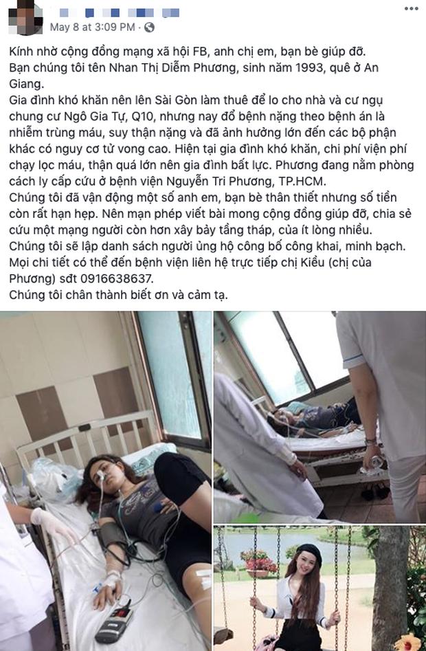Bị nhiễm trùng máu và suy thận nặng, cô gái 26 tuổi rơi vào tình trạng nguy kịch, cộng đồng kêu gọi giúp đỡ - Ảnh 1.