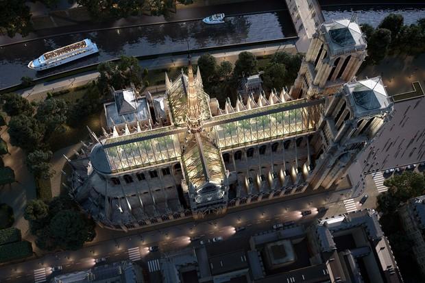 """Một nhà thiết kế mạnh dạn đề xuất biến Nhà thờ Đức Bà Paris thành """"Khu vườn trên mây"""", phần mái có thể trồng tới 21 tấn rau củ - Ảnh 1."""