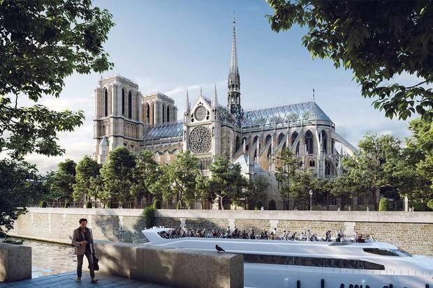 """Một nhà thiết kế mạnh dạn đề xuất biến Nhà thờ Đức Bà Paris thành """"Khu vườn trên mây"""", phần mái có thể trồng tới 21 tấn rau củ - Ảnh 2."""