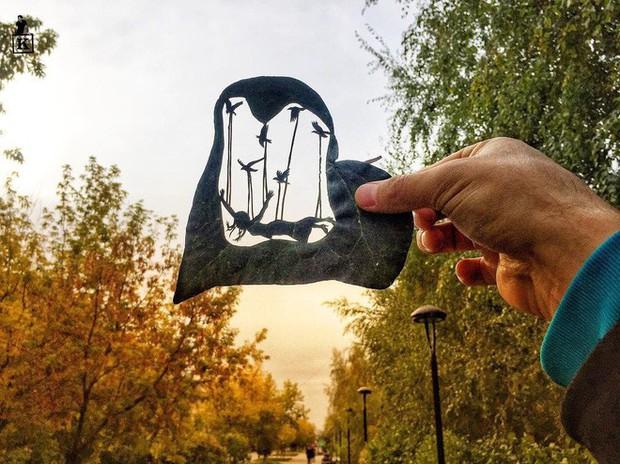 Lá rụng thường bị tống vào thùng rác, lá rụng ở Kazakhstan lại biến thành cả bầu trời nghệ thuật - Ảnh 2.