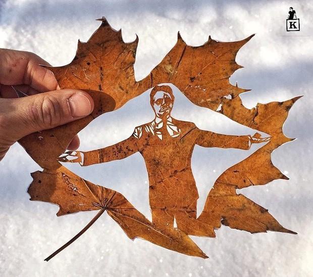 Lá rụng thường bị tống vào thùng rác, lá rụng ở Kazakhstan lại biến thành cả bầu trời nghệ thuật - Ảnh 12.