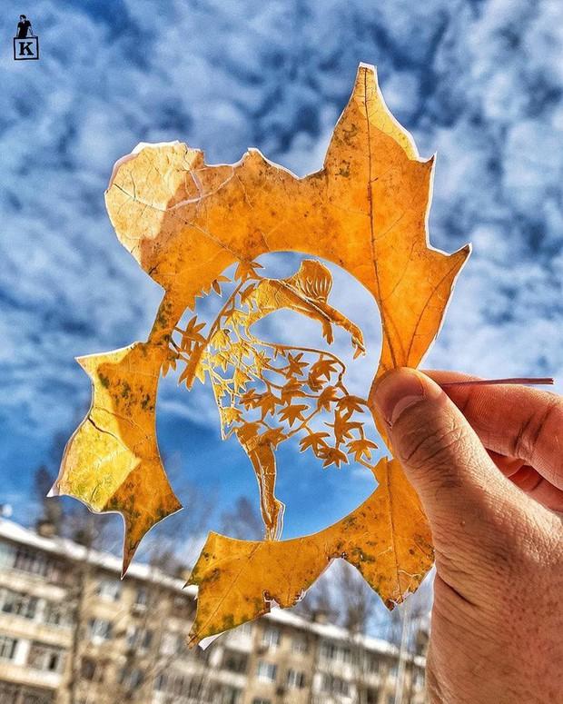 Lá rụng thường bị tống vào thùng rác, lá rụng ở Kazakhstan lại biến thành cả bầu trời nghệ thuật - Ảnh 13.