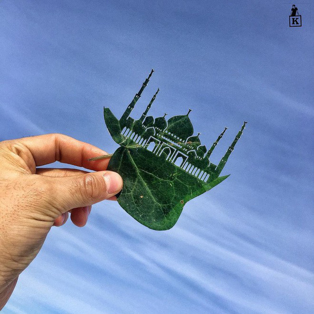Lá rụng thường bị tống vào thùng rác, lá rụng ở Kazakhstan lại biến thành cả bầu trời nghệ thuật - Ảnh 14.