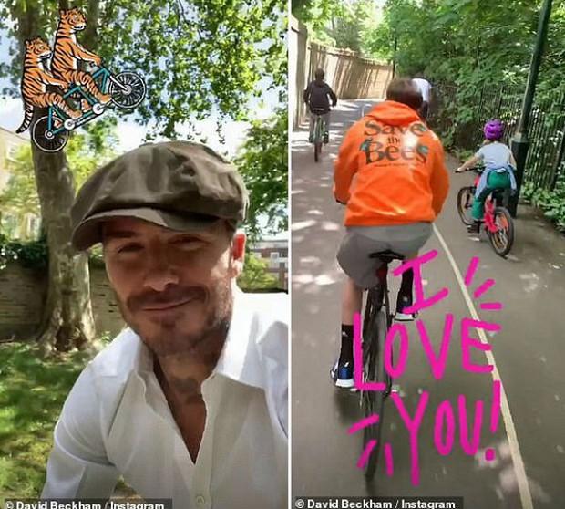 """David Beckham đạp xe cùng """"công chúa"""" Harper sau lệnh cấm lái xe vì vi phạm luật giao thông - Ảnh 3."""