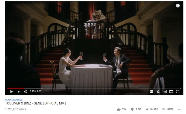 Bị chê một màu, MV mới của Binz vẫn vươn đến top 5 trending, đối đầu Amee và Đức Phúc - Ảnh 2.