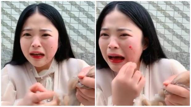 Hot girl livestream cảnh ăn bạch tuộc sống, bị con vật tấn công đến chảy máu nhưng dân mạng lại còn mắng cho vì lý do này - Ảnh 4.