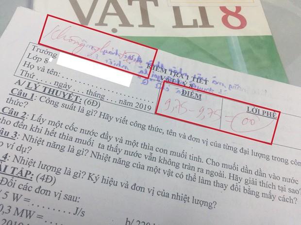 Bài kiểm tra bị trừ 9,75 điểm vì quên không ghi tên gây tranh cãi trên MXH: Cô giáo cứng nhắc hay học trò sai? - Ảnh 1.
