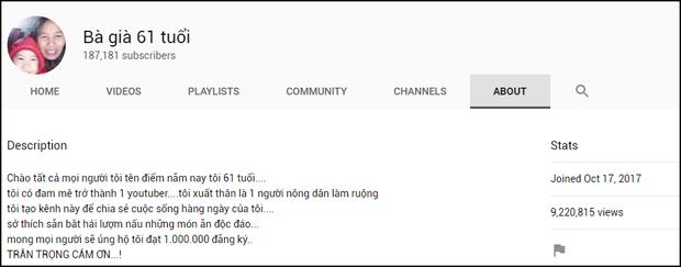 Nông dân làm YouTube: Lại thêm cụ bà đạt 200.000 sub chỉ sau 1 tuần, ra là nhờ lý do dễ đoán này - Ảnh 2.