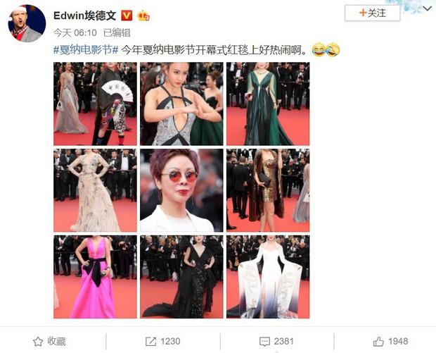 Sao nữ vô danh Cbiz diện đầm màu nổi đến Cannes nhưng sao lại hao hao váy cũ của Đỗ Mỹ Linh? - Ảnh 1.