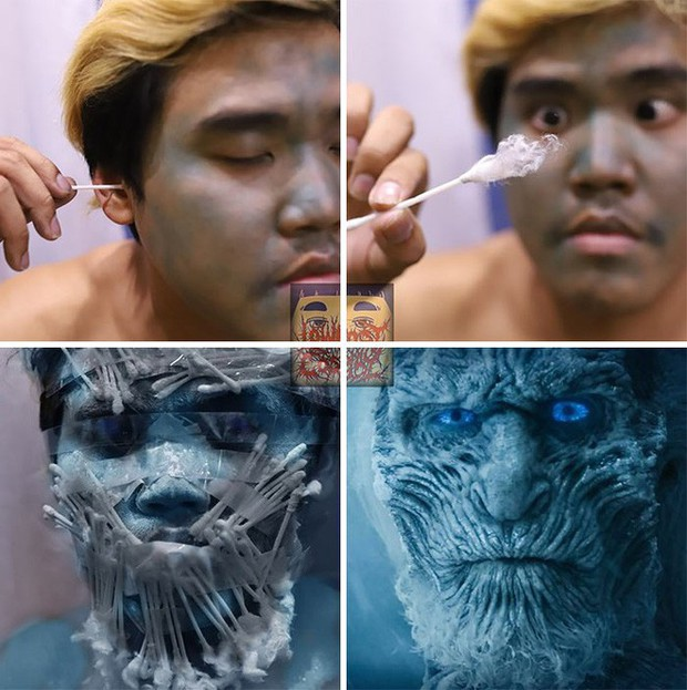 Băng vệ sinh, bông ngoáy tai... đã giúp thánh cosplay siêu rẻ hóa thân thành dàn nhân vật Game of Thrones như thế nào? - Ảnh 4.