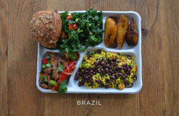 Lác mắt với bữa ăn trưa tiêu chuẩn tại trường của trẻ em trên thế giới, phụ huynh Việt trông thấy đều: Ước gì! - Ảnh 4.