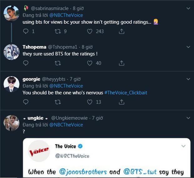Fan nổi đóa tấn công The Voice Mỹ, đòi giải thích về sự biến mất bí ẩn của BTS - Ảnh 7.