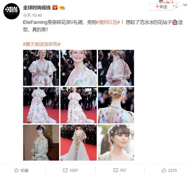 """Elle Fanning thành tiên nữ đẹp hơn hoa tại Cannes, nhưng netizen xứ Trung lại chỉ nhớ đến """"hoa tiên tử"""" Phạm Băng Băng ngày nào - Ảnh 2."""