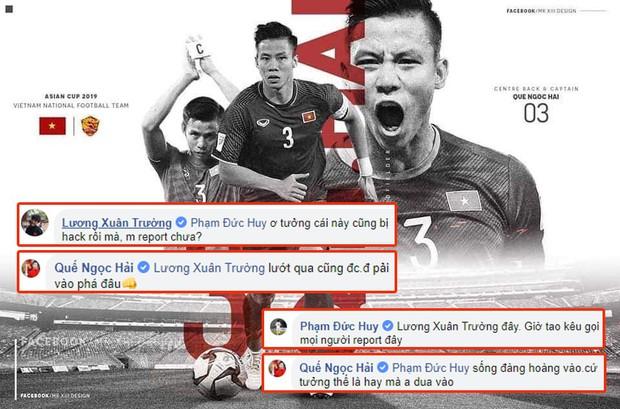 Quế Ngọc Hải kêu gọi tẩy chay fanpage giả, Xuân Trường, Đức Huy rủ nhau report luôn tài khoản chính chủ - Ảnh 1.