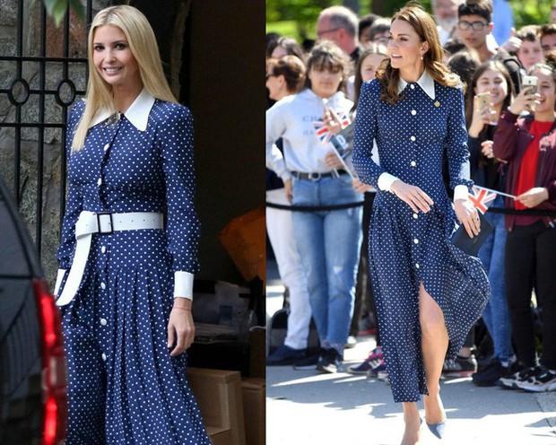 Lần diện đồ cũ này của Công nương Kate quá đặc biệt: Đụng hàng với ái nữ Tổng thống Trump và giống đến 80% váy của mẹ chồng - Ảnh 7.