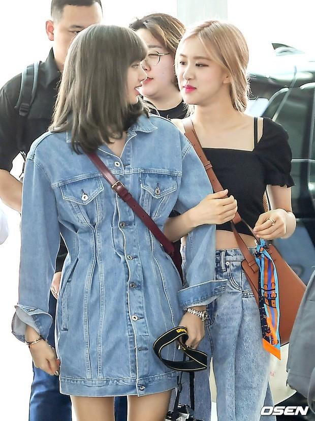 BLACKPINK gây náo loạn sân bay: Jennie và Lisa như đi catwalk, Jisoo lại chiếm trọn spotlight vì đẹp xuất thần - Ảnh 14.