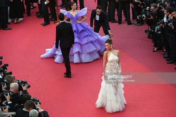 Hình ảnh thú vị: Đụng độ tại thảm đỏ Cannes, Chị đại showbiz Thái được chăm sóc nhiệt tình, lấn át cả Bella Hadid - Ảnh 2.