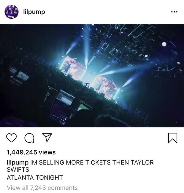 Ngông cuồng xúc phạm Taylor Swift và cái kết cực đắng cho rapper Lil Pump! - Ảnh 1.