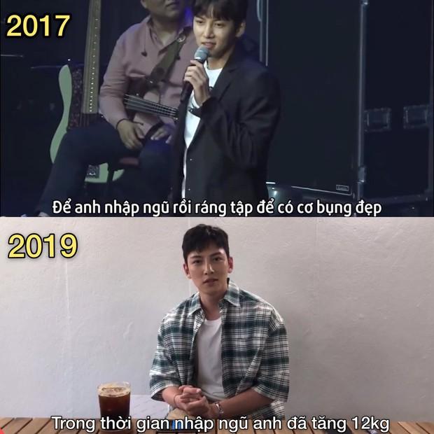 Đời buồn của Ji Chang Wook: Hứa với fan khi nhập ngũ sẽ ráng có cơ bụng đẹp, ai dè tăng hẳn 12 kg bụng dồn 1 múi - Ảnh 5.