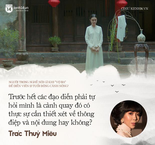 Các nhà làm phim Việt nói gì chuyện diễn viên 13 tuổi đóng cảnh nóng Vợ Ba? - Ảnh 7.