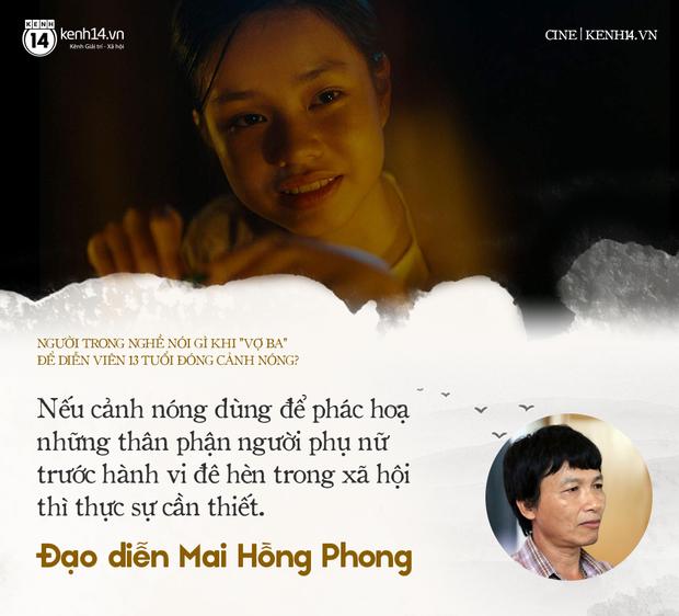 Các nhà làm phim Việt nói gì chuyện diễn viên 13 tuổi đóng cảnh nóng Vợ Ba? - Ảnh 3.