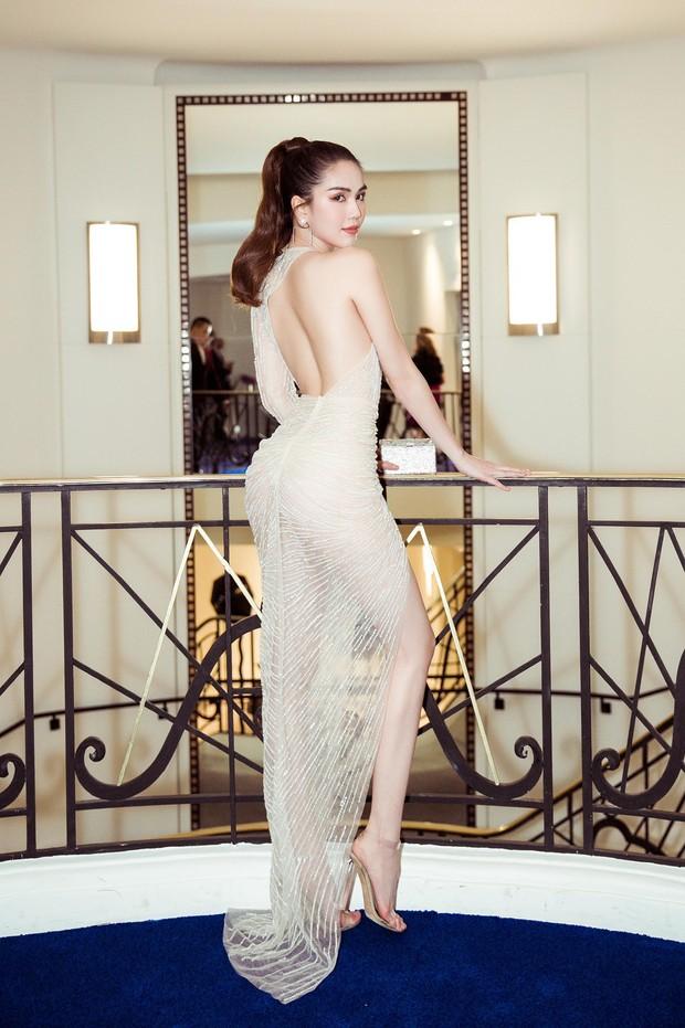 Ngọc Trinh diện váy mỏng tang, đọ sắc cùng Priyanka Chopra, thiên thần Victorias Secret tại Cannes - Ảnh 2.
