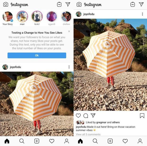 Đã có nơi bị Instagram update bỏ số đếm Like: Tận thế của các tín đồ sống ảo đã đến? - Ảnh 1.