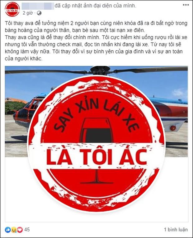 Sau tai nạn thương tâm ở hầm Kim Liên, cộng đồng mạng đồng loạt thay avatar Facebook với thông điệp: Say xỉn lái xe là tội ác! - Ảnh 3.