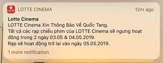 Rạp phim thông báo ngừng phục vụ hai ngày quốc tang 3-4/5/2019 - Ảnh 2.