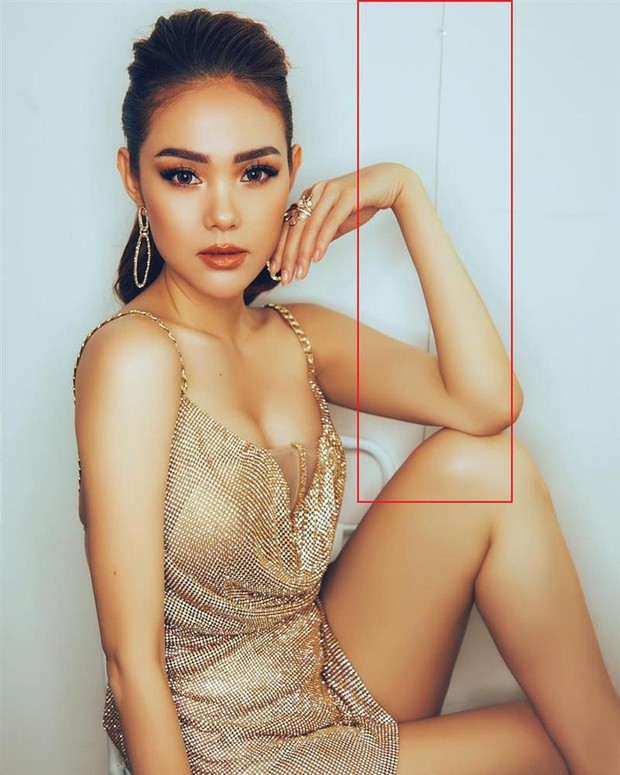 Minh Hằng nhập hội bẻ cong vạn vật, đăng ảnh khoe eo thon nhưng lại bị bóc mẽ photoshop quá tay - Ảnh 3.