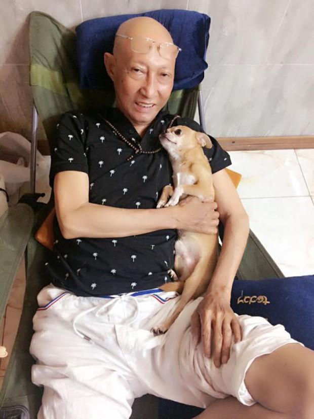 Chú chó Lucky được gia đình buộc tang trắng, quấn quýt bên linh cữu cố nghệ sĩ Lê Bình - Ảnh 5.