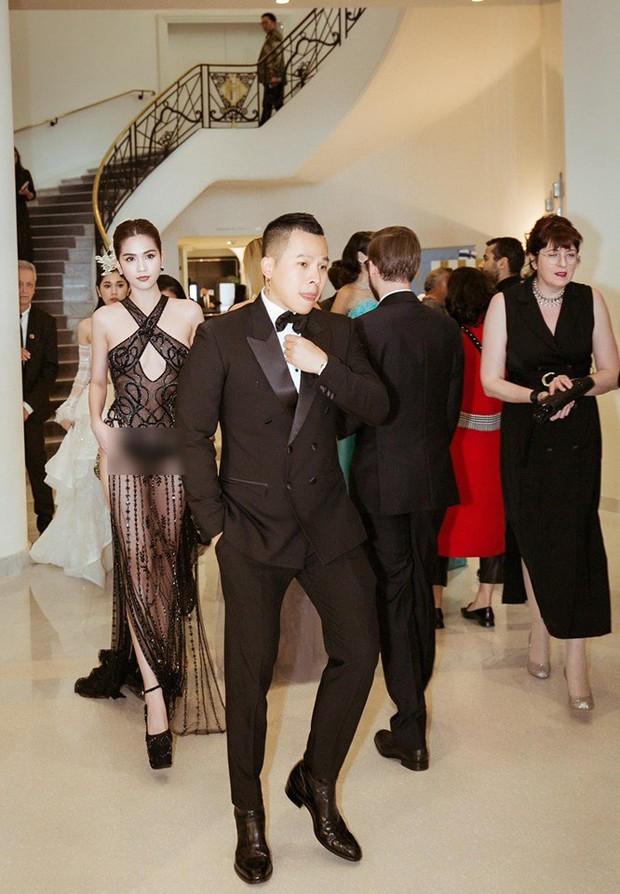 Đọ nhan sắc của Ngọc Trinh trên thảm đỏ Cannes khi chưa và đã qua phù thuỷ photoshop - Ảnh 4.