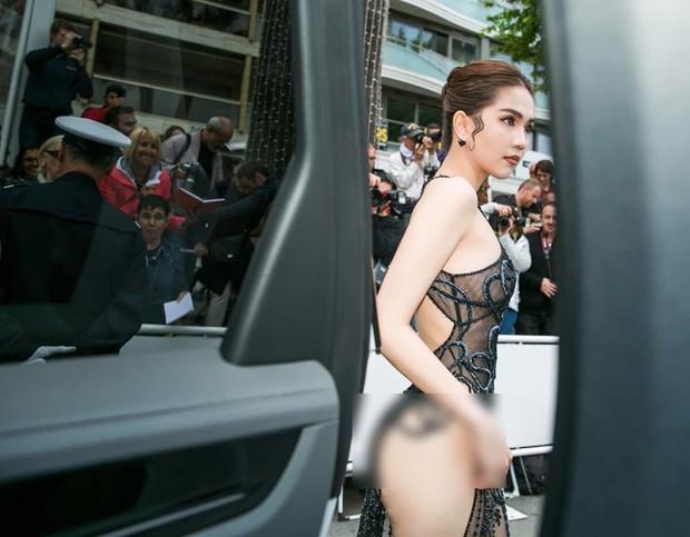 Đọ nhan sắc của Ngọc Trinh trên thảm đỏ Cannes khi chưa và đã qua phù thuỷ photoshop - Ảnh 5.