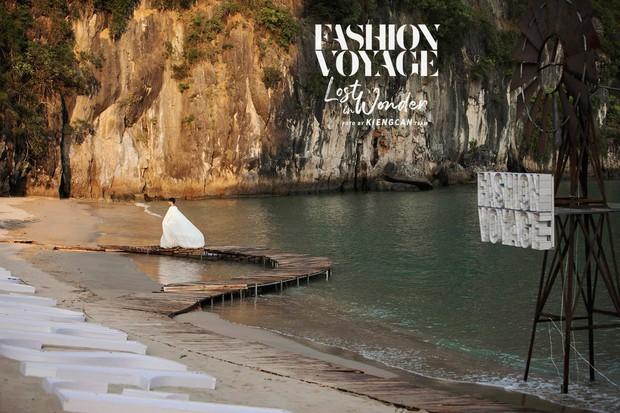 Trình diễn trên đảo hoang sơ, Fashion Voyage có những khoảnh khắc đẹp nín thở, tôn trọn vẹn vẻ đẹp kỳ quan của Vịnh Hạ Long - Ảnh 2.