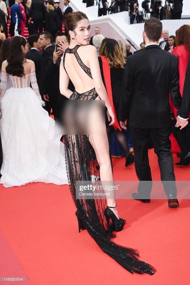 Ngọc Trinh lần đầu đi thảm đỏ Cannes đã gây sốc với trang phục hở hang nhức mắt, khoe thân quá đà - Ảnh 2.