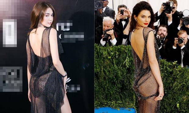Dậy sóng vì loạt ảnh thảm đỏ giống nhau bất ngờ của Ngọc Trinh và Kendall Jenner: Lấy cảm hứng hay học tập trắng trợn? - Ảnh 5.