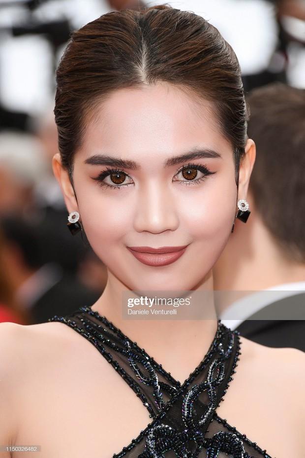 Đọ nhan sắc của Ngọc Trinh trên thảm đỏ Cannes khi chưa và đã qua phù thuỷ photoshop - Ảnh 8.
