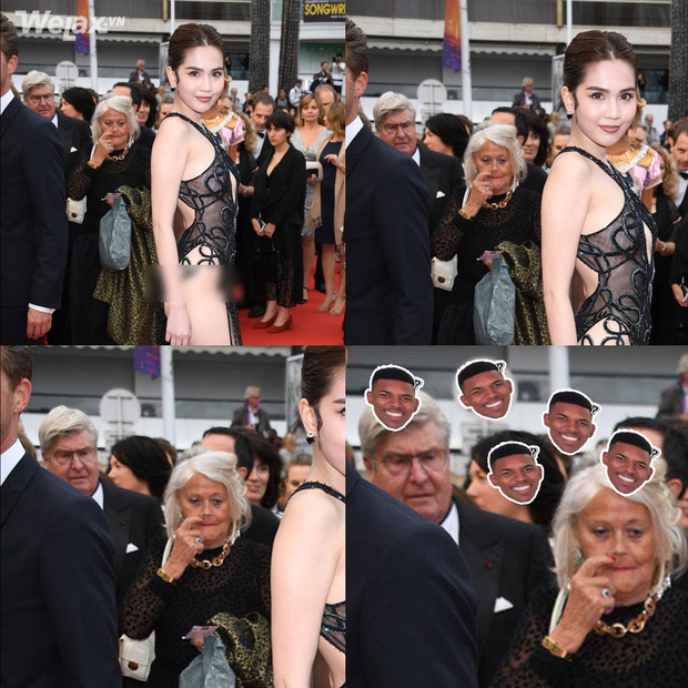 Ngọc Trinh và bộ cánh nhân trần đánh sập LHP Cannes, biểu cảm của bô lão xung quanh được dân mạng tặng ngay 1 vạn 8 ngàn ảnh chế! - Ảnh 1.